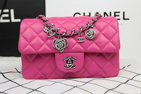 Bolsa Chanel Classic flap Valentine Day - PINK - Rosa   Pink