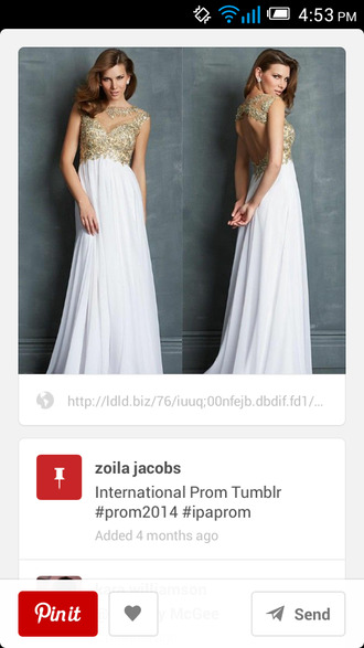 dress prom dress white dress white and gold dress long prom dress