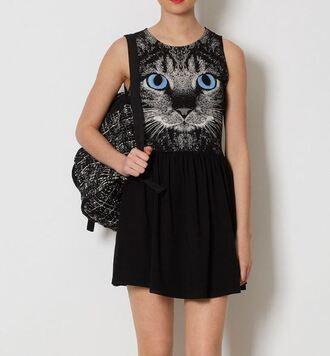 dress it girl shop cats grumpy cat black black dress graphic tee printed dress goth hipster