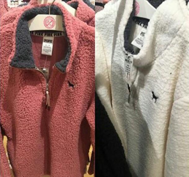 Sweater Pink By Victorias Secret Jacket Victorias Secret Fuzzy