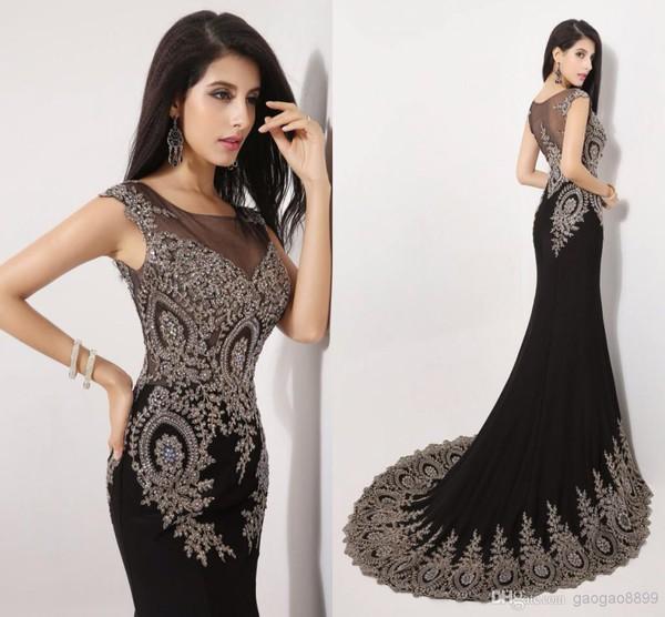 prom dress black dress beaded long dress long beading black prom dress dress