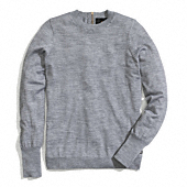 Coach :: ZIP BACK FINE GAUGE CREWNECK SWEATER