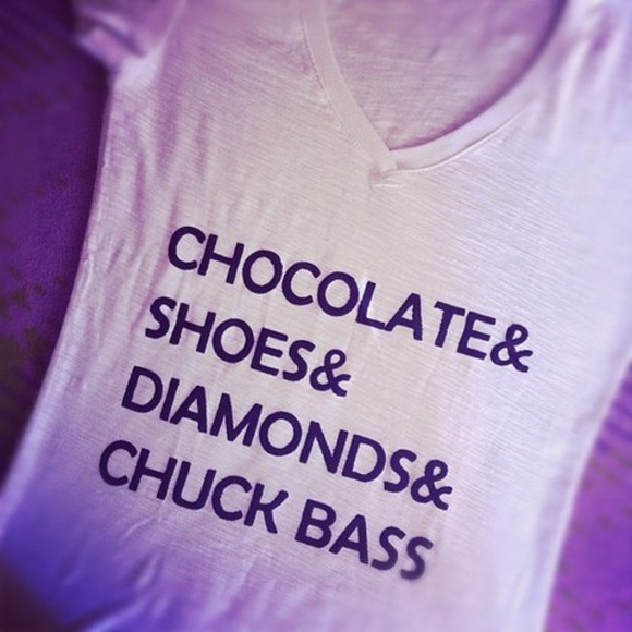 chuck bass t-shirt diamonds gossip girl white t-shirt black and white t-shirt shirt dimonds shoes choclate v-neck chocolate diamond love, sweet, cool, beautiful, swag, love chocolate