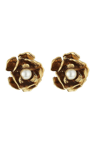 flower stud earrings earrings stud earrings gold jewels
