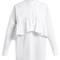 Oversized-ruffle cotton-blend poplin shirtdress