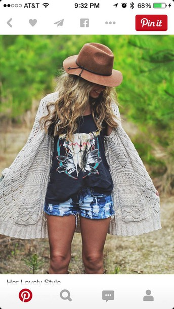 shirt aztec shirt gypsy top gypsy-style top brown hat cardigan hat cute top tshirt. summer outfits tank top animal clothing brownhat shorts long cardigan blouse sweater