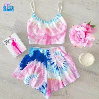 shorts aliexpress dip dyed shirt dip dyed top