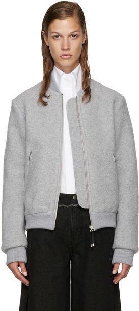 Acne Studios jacket bomber jacket grey