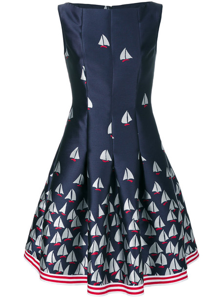 Talbot Runhof dress women print blue