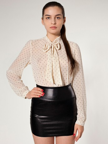 American Apparel - Shiny Late Night Mini Skirt