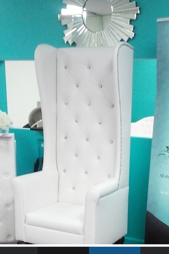home accessory chair white diamonds