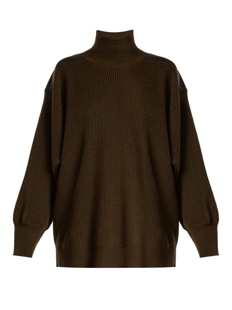 Stella McCartney sweater wool sweater wool dark green