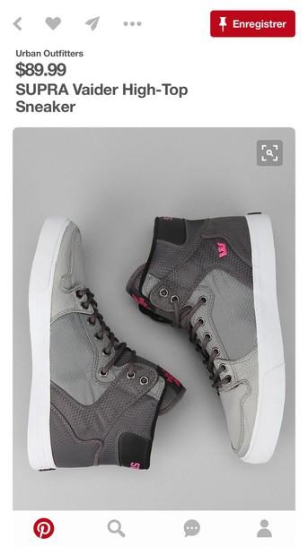 shoes supra high top sneakers grey sneakers