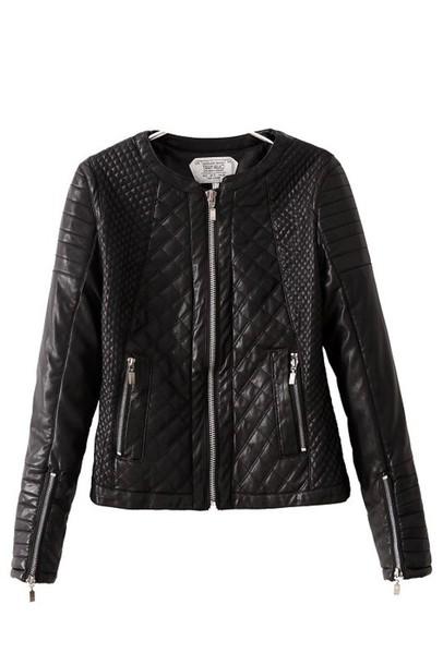 jacket leather jacket padded jacket