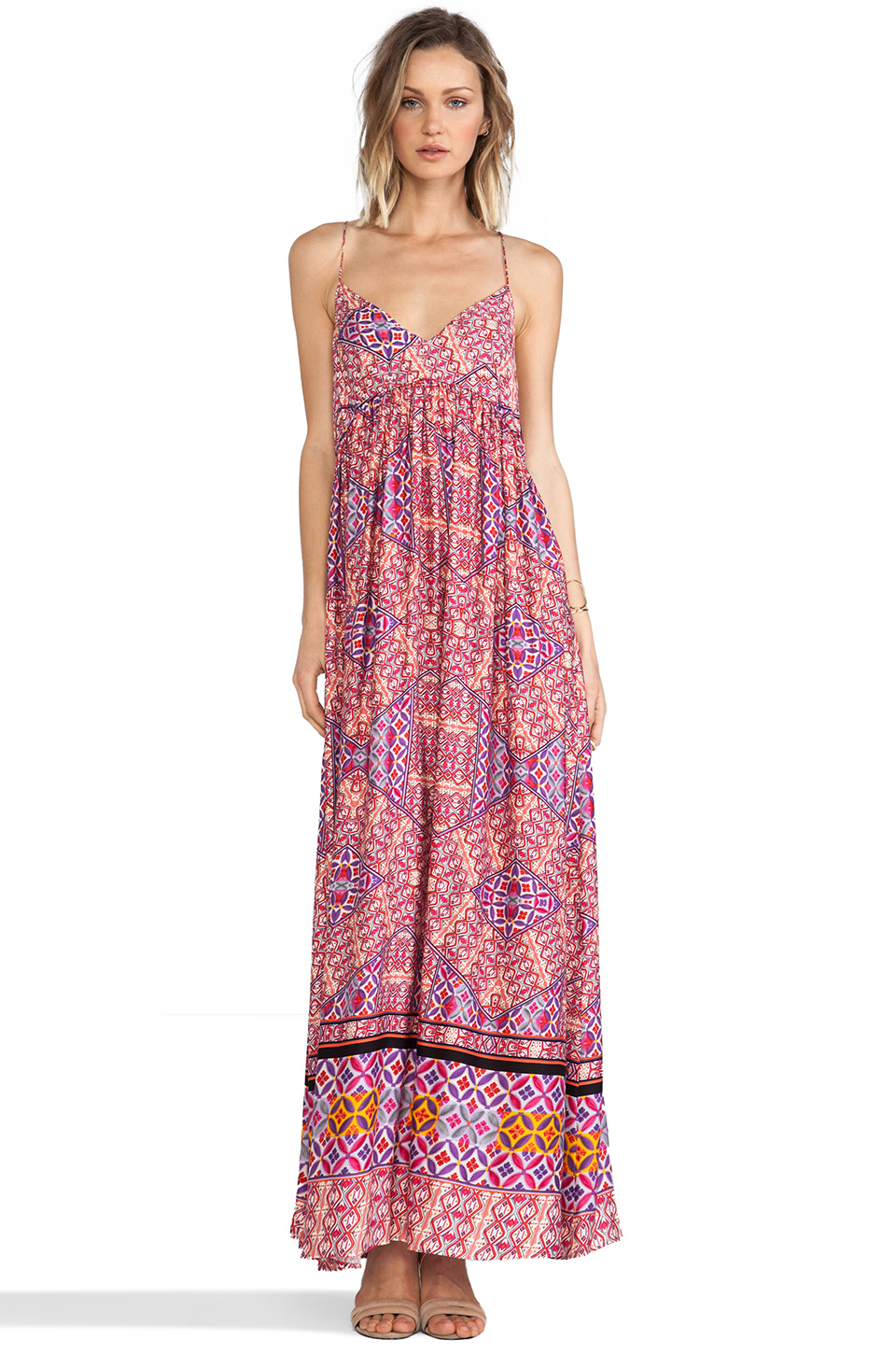 MINKPINK Water color Tiles Maxi Dress in Multi from REVOLVEclothing.com