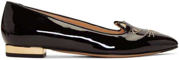 charlotte olympia flats black shoes