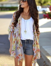 jacket,cardigan,floral,flowers,jewels,sweater,colorful,summer,loose,cover up,abstract,long