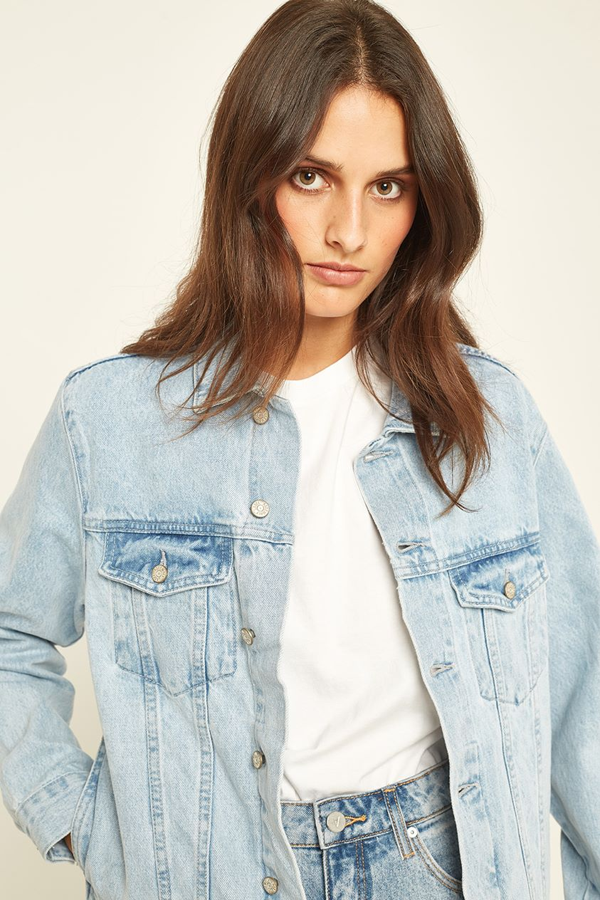 Assembly Maicy Denim Jacket Pacific Blue