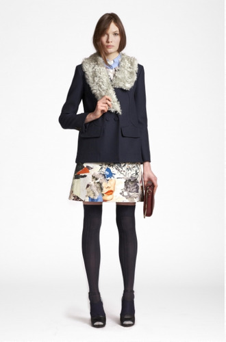 shirt skirt lookbook fashion coat carven