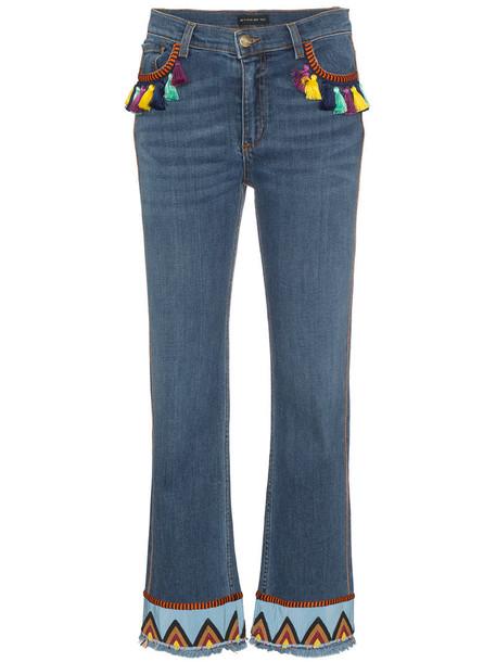 ETRO jeans women spandex cotton blue