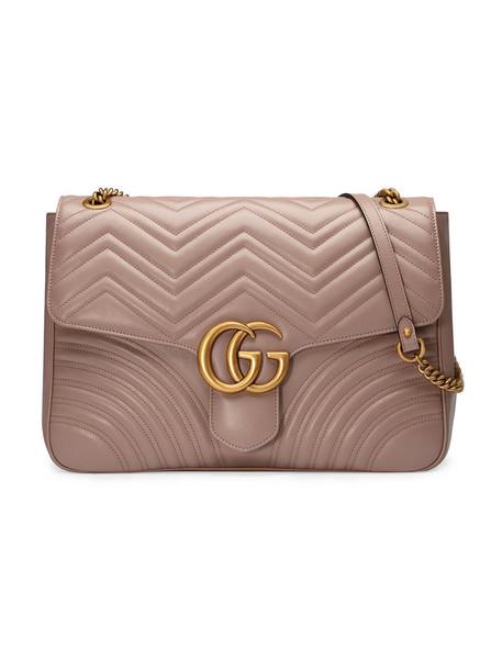 gucci metal women bag shoulder bag leather purple pink