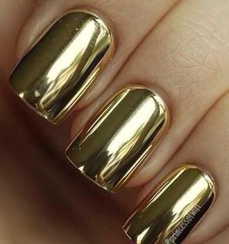 nail polish chrome gold nails chrome nail polish chrome nail varnish nail varnish nail accessories fashion beautiful style 2015 2014 2015 fashion trends manicure gold manicure mani pedi nail wraps