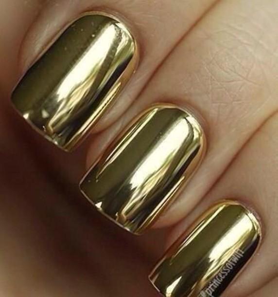 nail polish, chrome, gold, nails, chrome nail polish, chrome nail ...