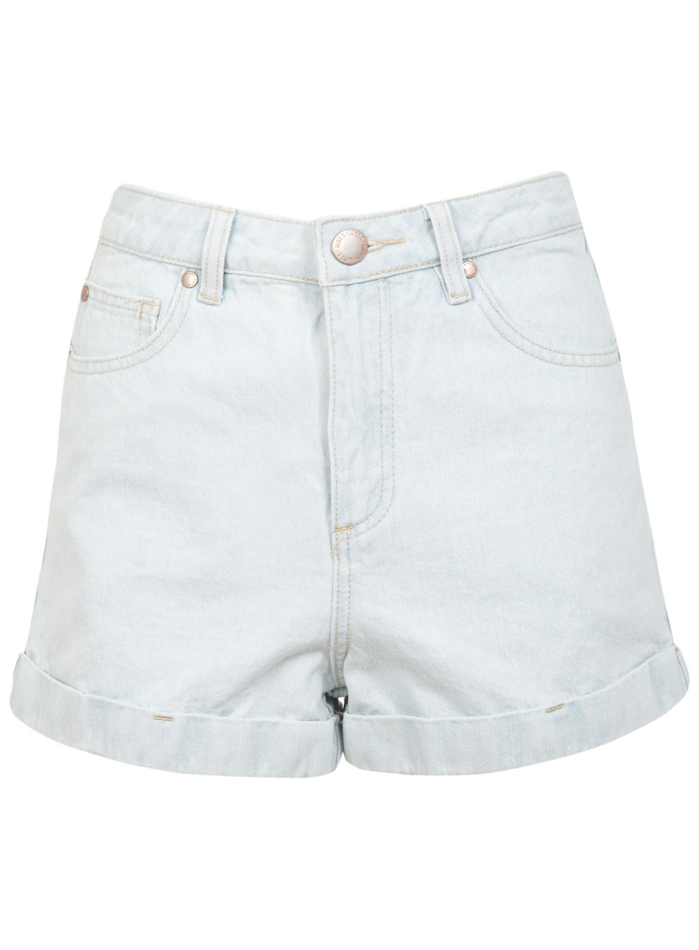 Bleach High Waist Denim Short - Festival Shop - Clothing
