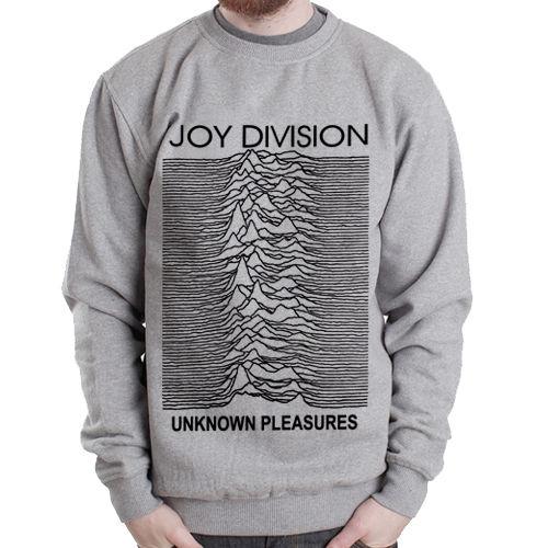 Joy Division-unknown pleasures rock band Grey men Heavy Crewneck Sweatshirt