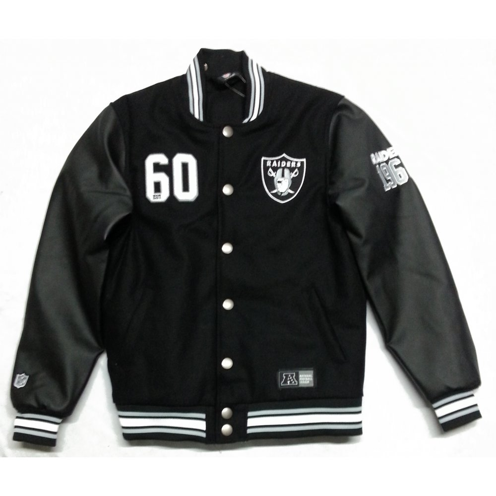 save off d37f5 97c37 Buy Majestic Dean Letterman Oakland Raiders Jacket Black