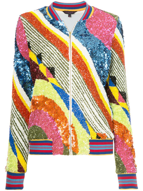 Manish Arora - geometric patterned bomber jacket - women - Nylon/Polyester - S, Nylon/Polyester