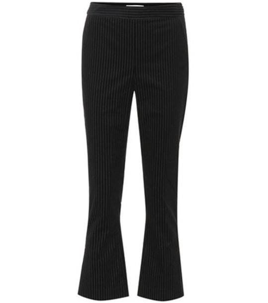 Frame Slit cropped corduroy pants in black