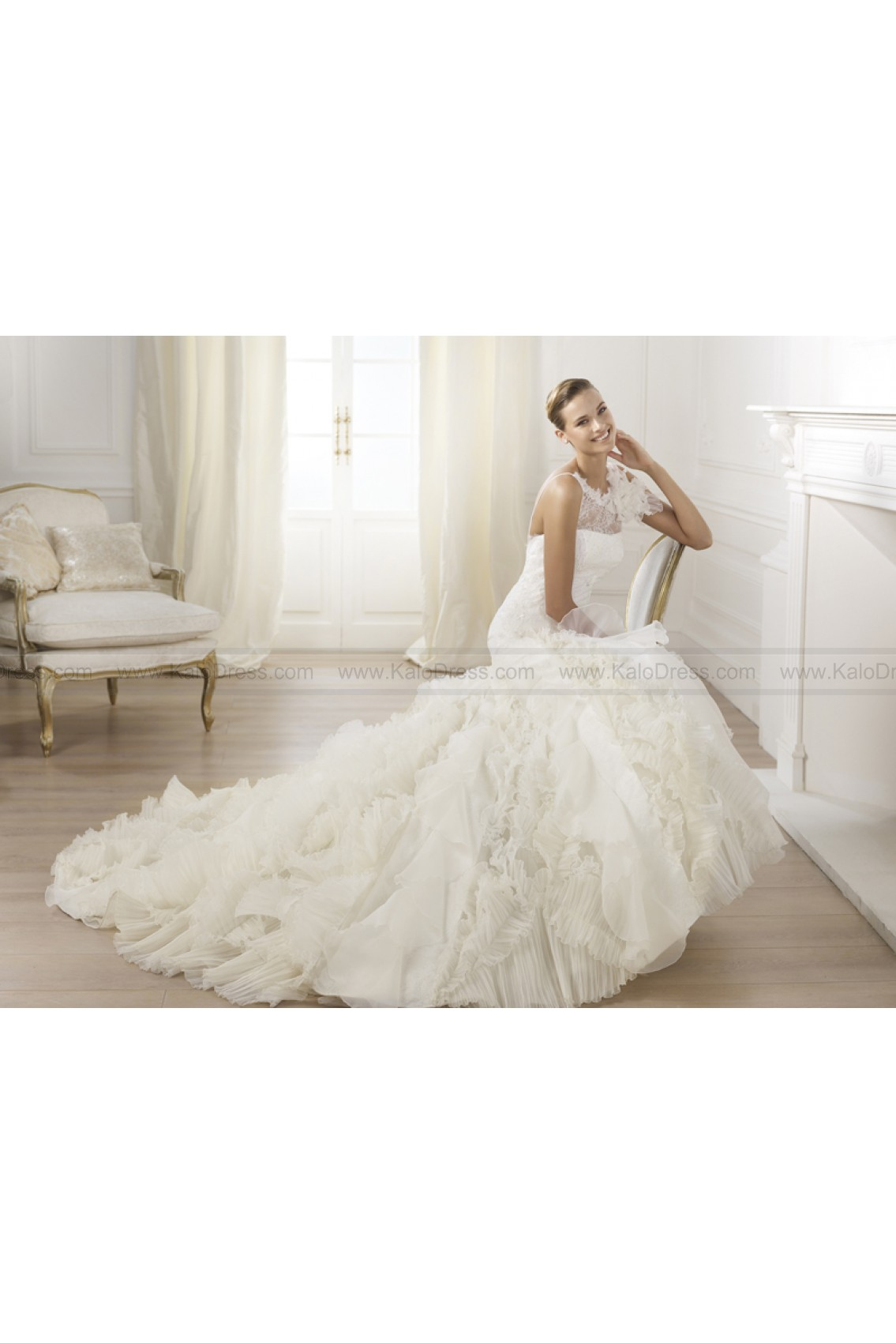 Pronovias Wedding Dresses - Style Leandra - Wedding Dresses 2014 New - Formal Wedding Dresses