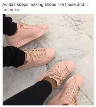 shoes adidas shoes nude pink