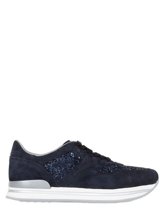 glitter sneakers suede blue shoes