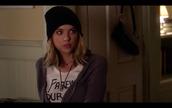cardigan,beanie,pretty little liars,ashley benson,t-shirt,hat