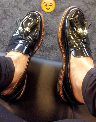 shoes black slip on shoes women shoes flats black flats
