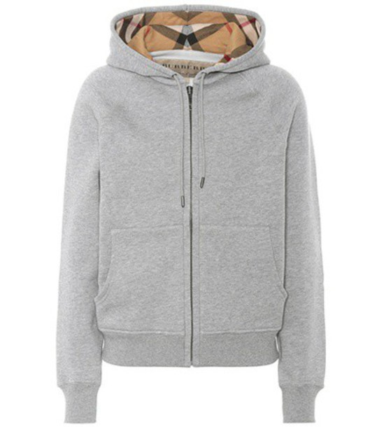 Burberry hoodie cotton grey sweater