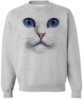 CAT FACE SWEATSHIRT unisex pullover crew neck -- s m l xl xx... - Polyvore