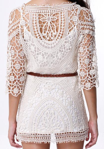 Crochet Dress - with Belt