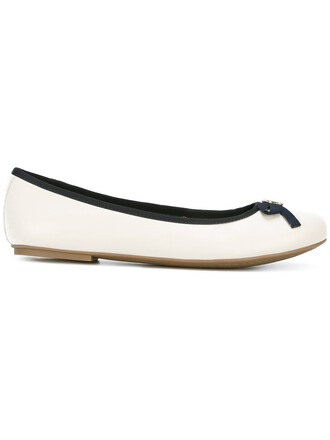 bow women leather white cotton shoes