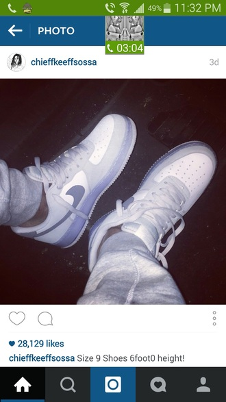 shoes chief keef white shoes flourescent nike shoes nike air nike air force 1 tennis shoes style