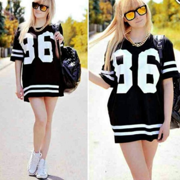 baseball tee oversized oversized tee 86 medusa short sleeve dress shirt dress tee