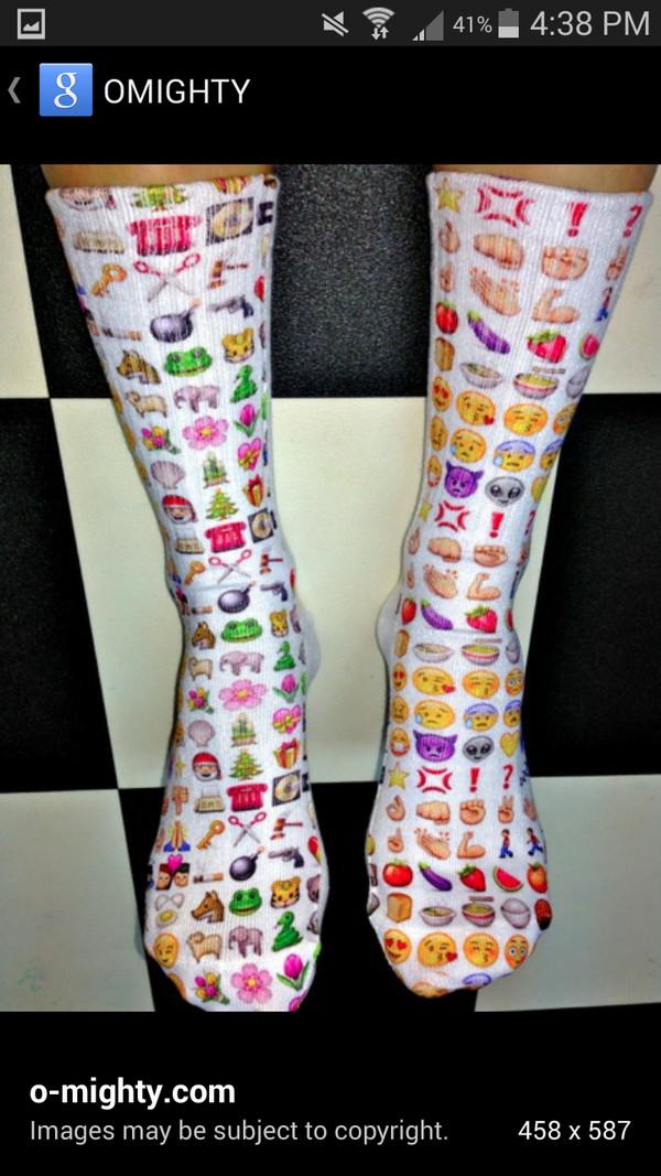 socks emoji print