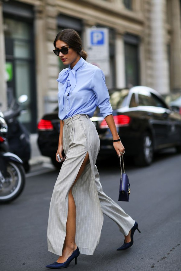 pants blouse shirt fashion week 2014 streetstyle fall outfits