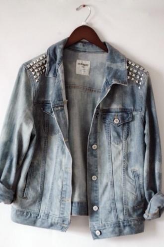 jacket studded denim denim jacket