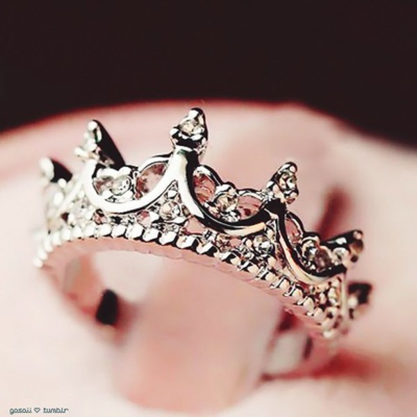 jewels ring girly ring crown ring www.ebonylace.net diamonds queen princess silver