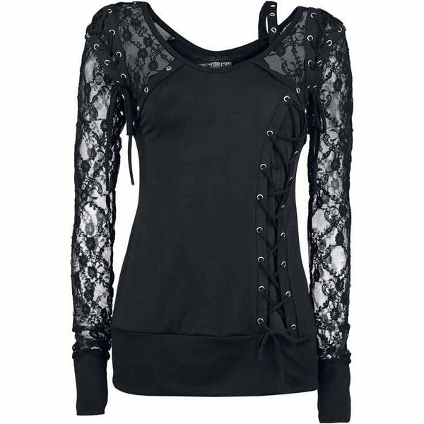 blouse lace shirt courset long sleeves