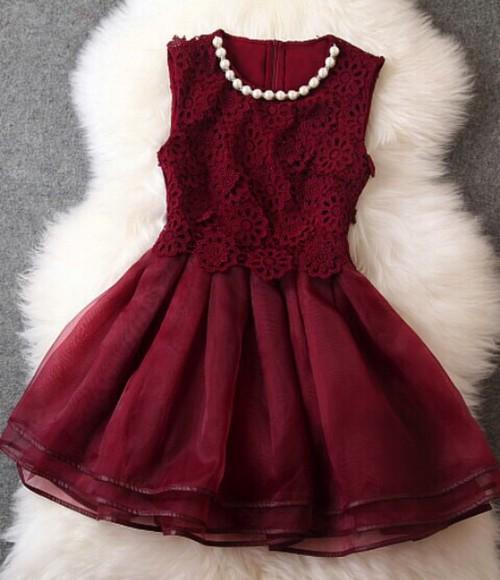 red dress lace dress