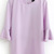 Light Purple Flare Three Quarter Length Sleeve Blouse - Sheinside.com
